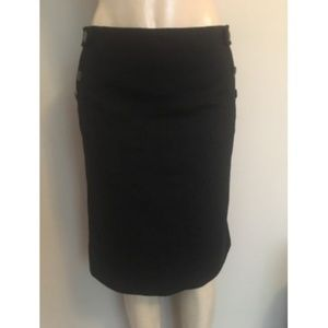 J Crew Adrian Felted Wool Pencil Skirt Sz 4 Black